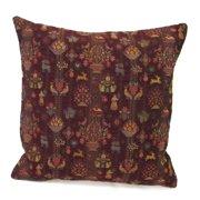 Corona Dcor Corona Decor French Woven Festive Floral Design Cotton and Wool Decorative Throw Pillow