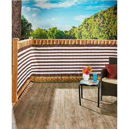 15 Ft Deck & Fence Privacy Screen Striped Polyethylene ...