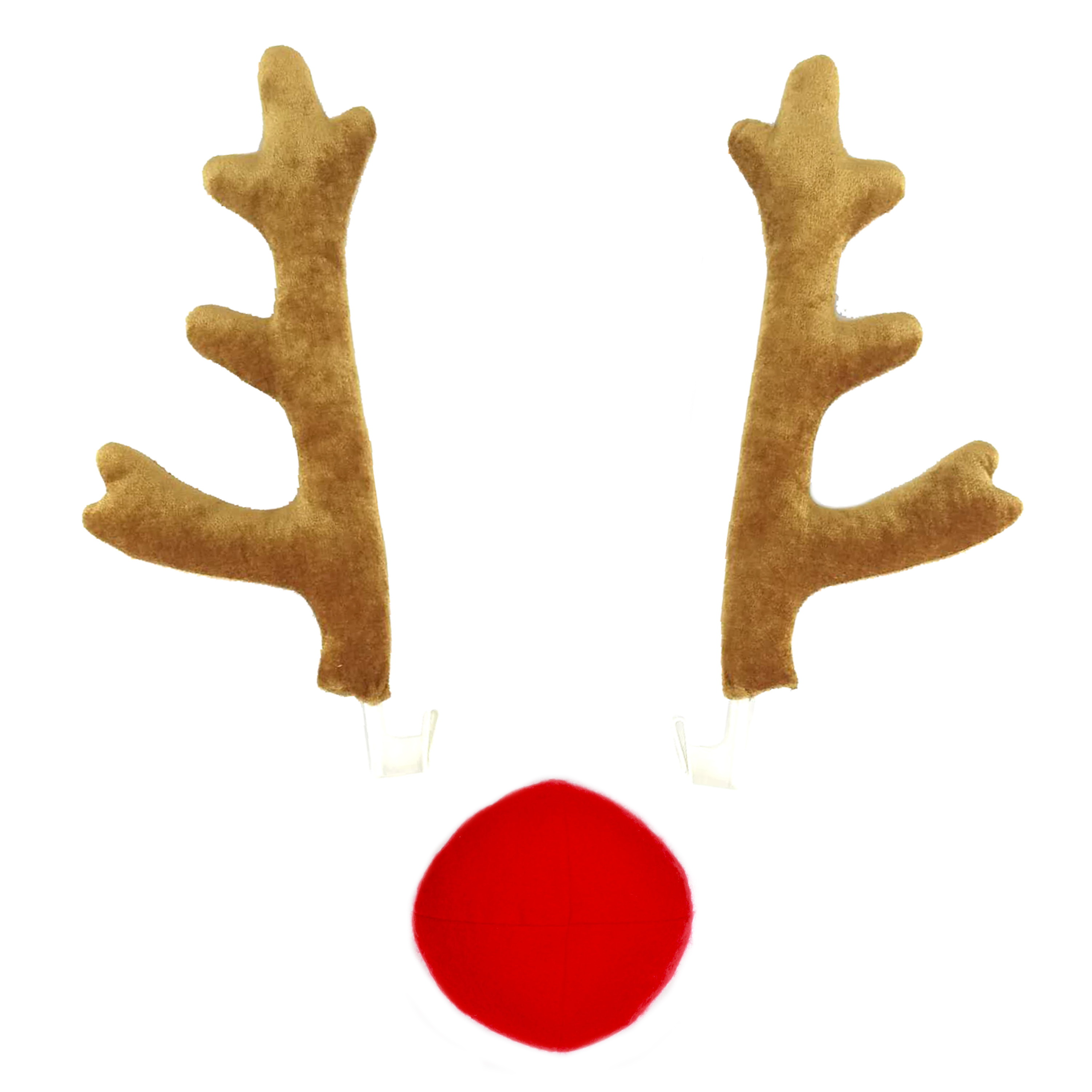 37036c0b8 Rudolph The Red Nosed Reindeer Christmas Rudolph Car Costume – Reindeer Tan  Antlers and Red Nose set - Walmart.com