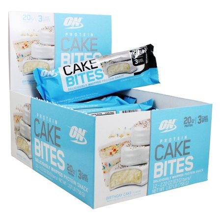 Birthday Cake Bites Whipped Protein Snack Bar 12 Count Deliciously