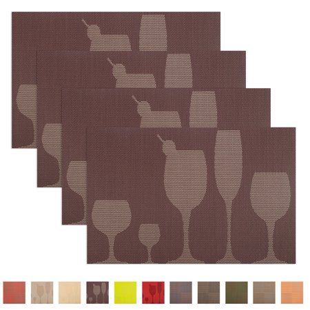 Aspire 4PCS Washable Table Mats, Kitchen or Party Favor, Best Gift Ideas-Glass