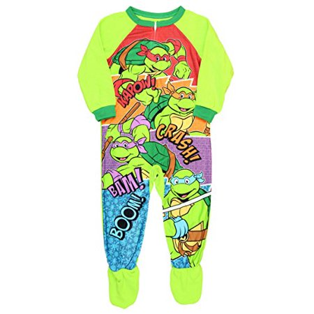 Teenage Mutant Ninja Turtles Onesie (Teenage Mutant Ninja Turtles Footed Pajamas Blanket Sleeper Little Boys)