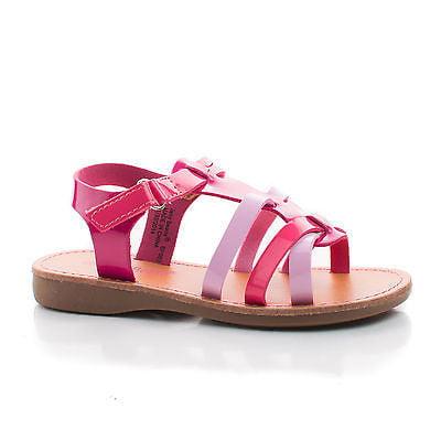 - Pentagon by Jelly Beans, Patent Children's Girl Gladiator Sling back Flat Sandals