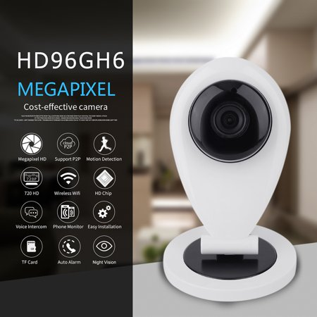 720P 0 3 Mega Hd Security Ip Camera Systems Hidden Security Cameras Network Monitoring Security Camera Dvr Indoor Wifi Ip Mini Camera For Home Guardian Mini Cam With Night Vision White   Black