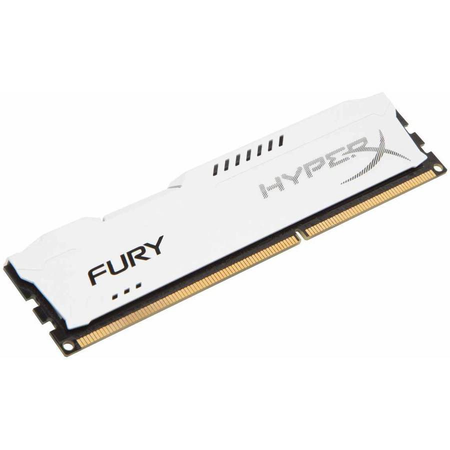 Kingston 8GB 1600MHz DDR3 Non-ECC CL10 DIMM HyperX FURY White Series Memory Module