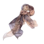 """Pack of 2 Beige Peacock Inspired Women's Frill Fashion Wrap Scarf Shawls 79"""""""