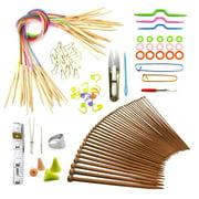 Best Knitting Needles Sets - Knitting Needles Set Colored Tube Bamboo Circular Knitting Review