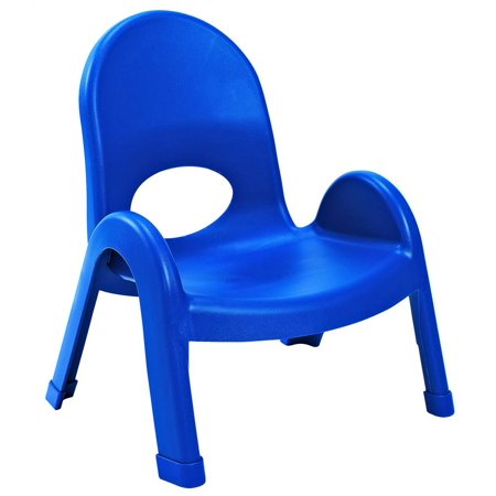 Angeles 7 in. Kids Stacking Chair in Royal Blue - Set of 4