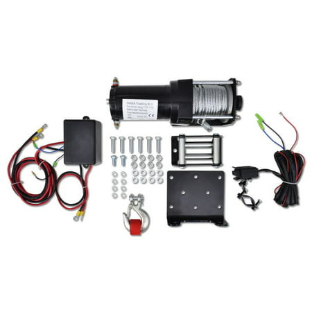 Electric Winch 3000 lb with Plate Roller Fairlead