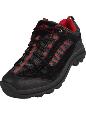 Norty - Mens Cotton Traders Hiking Trail Walking Sneaker - Light Weight Low Top with Adjustable Lacing for a Secure Fit