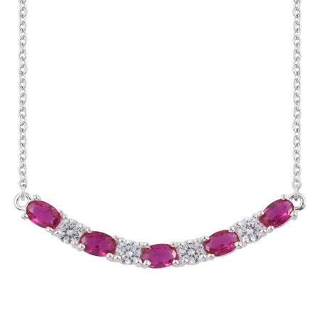 925 Sterling Silver Cubic Zircon CZ Purple Cubic Zircon CZ Garnet Necklace for Women 18