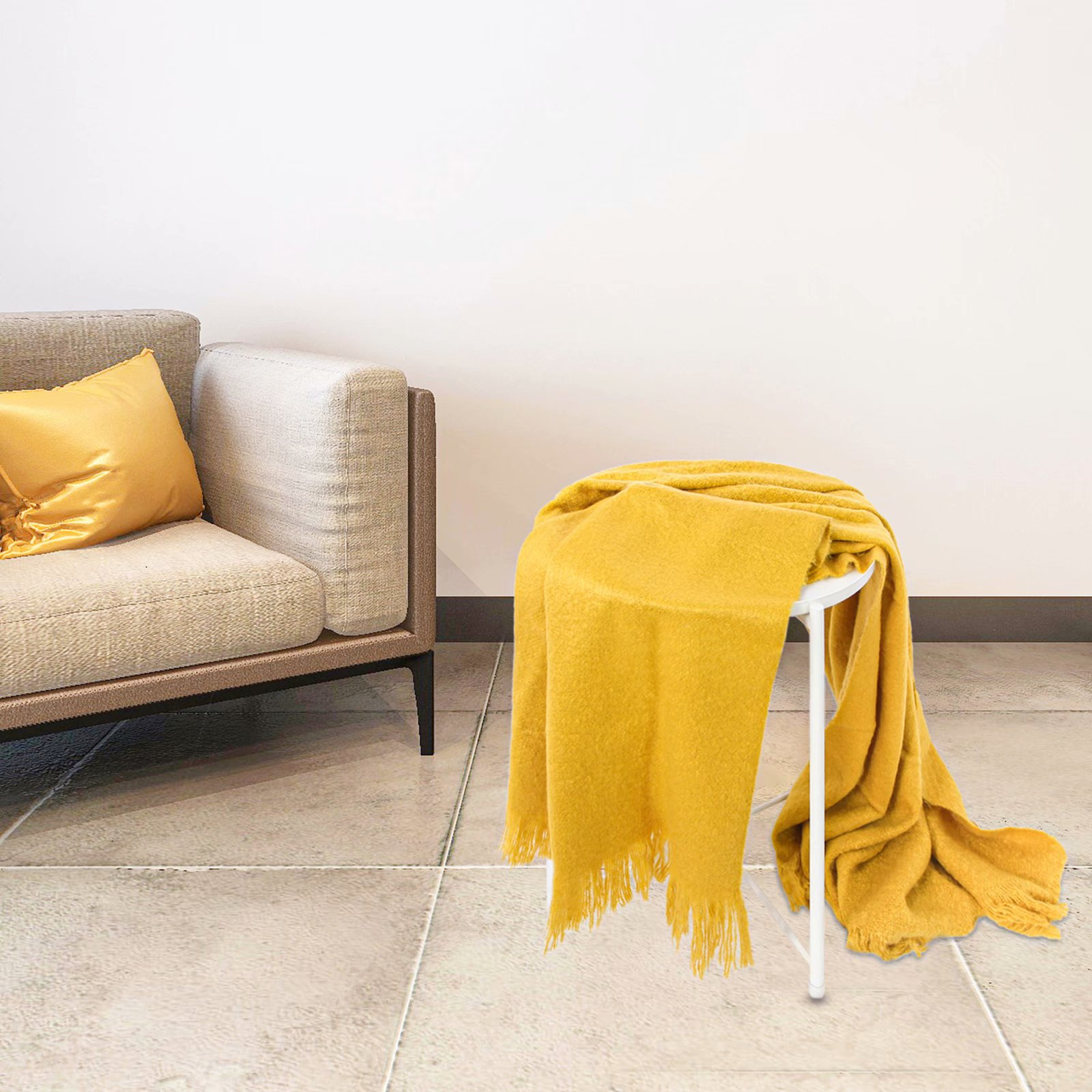 """100/% Cotton Knitted Throw Blanket 51/""""x70/"""" Sleeping Cover for Sofa Bed Car Chair"""