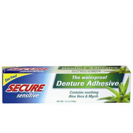 Secure Sensitive Denture Adhesive 1 4 Oz Pack Of 4