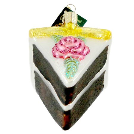 Old World Christmas PIECE OF CAKE Glass Ornament Birthday Pastry Sweets (Cake Christmas Ornament)