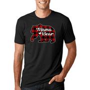 Plaid Mama Bear | Mens Christmas T-Shirt