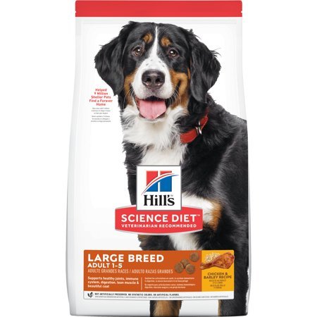Hill's Science Diet Adult Large Breed Chicken & Barley Recipe Dry Dog Food, 15 lb