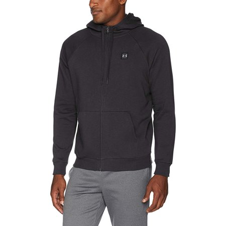 Under Armour Men's Rival Fleece Hoodie, Black/Black, -