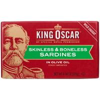 (3 Pack) King Oscar Skinless Boneless Sardines in Olive Oil, 4.4 oz