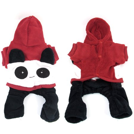 Unique Bargains Red Short Sleeves Hoodie Panda Design Chihuahua Pet Dog Clothes Jumpsuit S](Panda Jumpsuit)