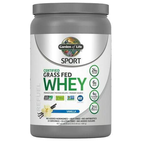 Garden Of Life Sport Whey Protein Powder, Vanilla, 1.1 Lb
