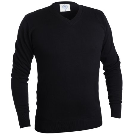 Mens Classic V-neck Sweater - Gallery Seven V Neck Sweater For Men - Cotton Lightweight Mens Pullover