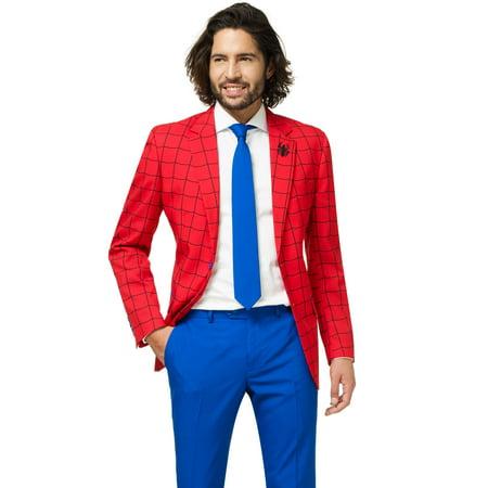 OppoSuits Men's Spider-Man Licensed Suit](Easy To Do Superhero Costumes)