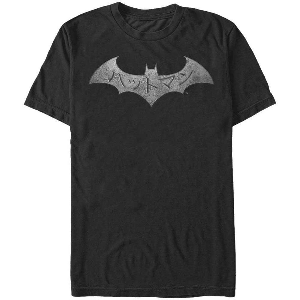 Batman Men's  Kanji Steel T-shirt Black