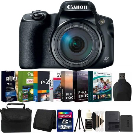 Canon Powershot SX70 HS 20.3MP Digital Camera with Photo Editing Software Kit