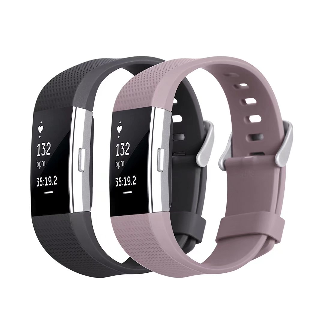 Kutop Fitbit Charge 2 Band , TPU Soft Silicone Adjustable Replacement Sport Strap Band for Fitbit Charge2 Smartwatch Heart Rate Fitness Wristband