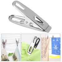 OTVIAP 20pcs Stainless Steel Clothes Pegs Clamps Household Socks Underwear Drying Rack Clip Holder Clothes Clip Holder Clothes Pegs