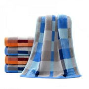 Cyber Monday Clearance!!35*73CM Skin-friendly Cotton Checkered Soft Beach Towel Suit Shower Cleaning Towel,Blue