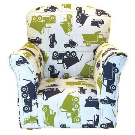 Brighton Pattern - Brighton Home Furniture CR1000DT Toddler Rocker in Dump Truck Printed Cotton