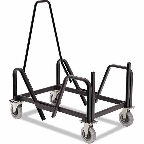 Hon Motivate Seating Cart High-Density Stacking Chairs, Black