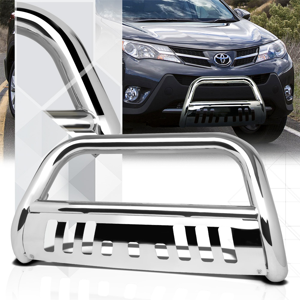 "Chrome 3"" Front Bumper Bull/Push Bar Brush Grille Guard for 06-16 Toyota Rav4 07 08 09 10 11 12 13 14 15"