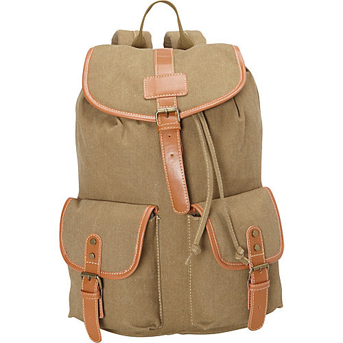 R & R Collections Canvas Backpack with Round Flap