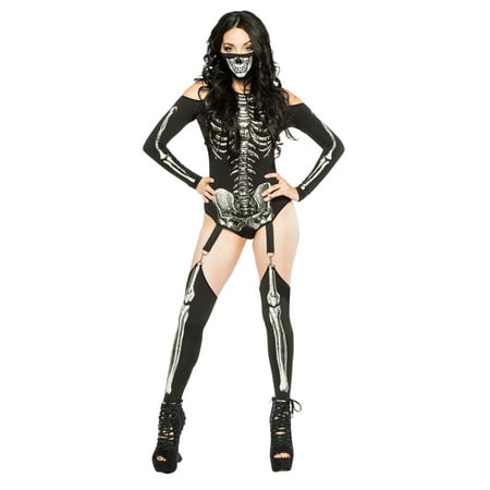 Skeleton Bodysuit Women's Costume](Skeleton Pajamas)