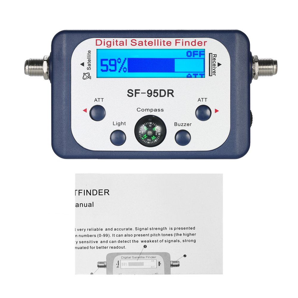 Digital Satellite Finder Satellite Signal Meter Mini Digital Satellite  Signal Finder Meter with LCD Display Digital Satfinder with Compass