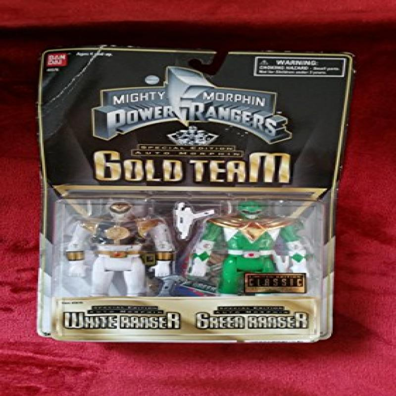 Bandai Mighty Morphin Power Rangers Gold Team Features Bo...