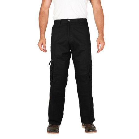 Men's Tactical Combat Military Army Work Slim Fit Twill Cargo Pants Trousers (VERTICAL - Black,38,30)