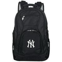 "New York Yankees 19"" Laptop Travel Backpack - Black - No Size"