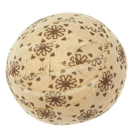 Light Tan Brown Seasonal Decor Cookie Cutter Cotton Floral / Flower Round Fabric Ball Set of -