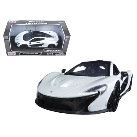 McLaren P1 White 1/24 Diecast Model Car by Motormax (1 18 Mclaren P1 Model Car)