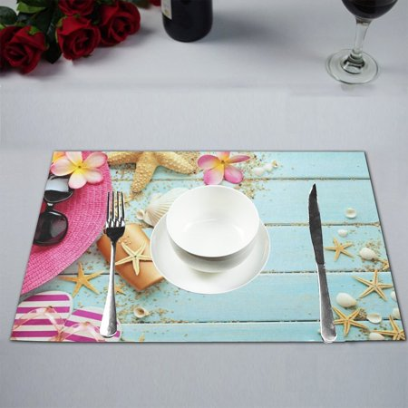 MYPOP Tropical Beach Summer Table Placemat Food Mat 12x18 Inches ()