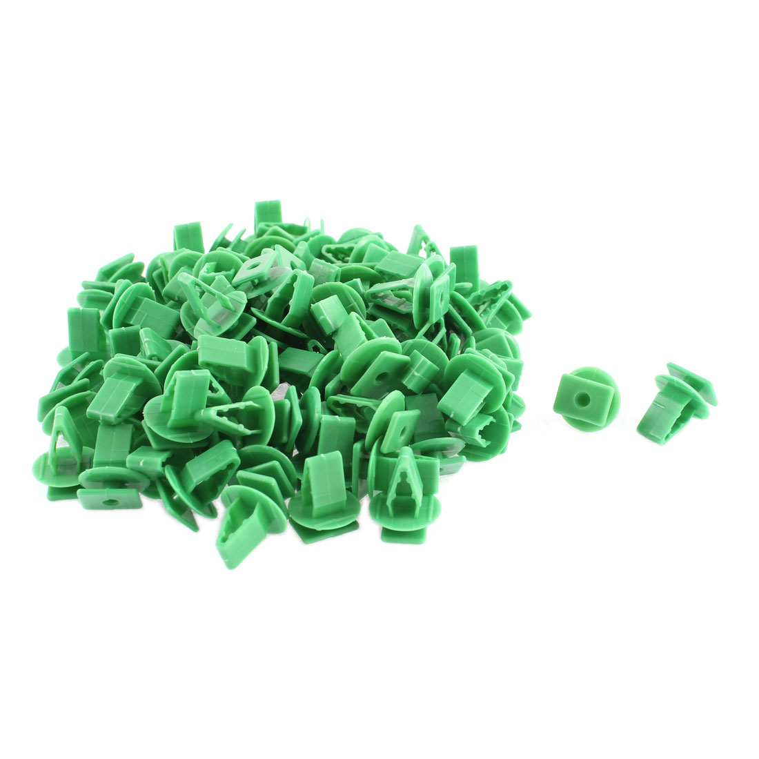 Unique Bargains 100 Pcs Green Plastic Interior Door Trim Panel Hood Rivet for Honda