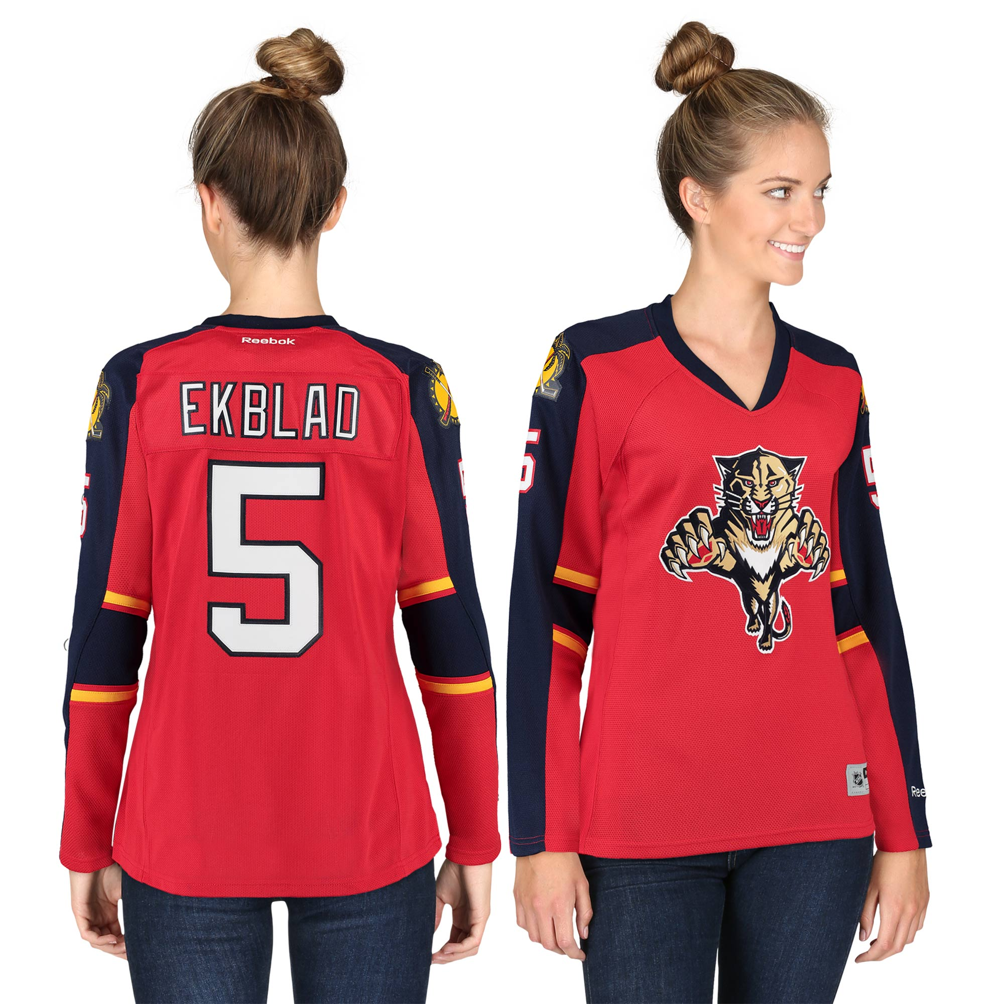 Aaron Ekblad Florida Panthers Reebok Women's Premier Player Jersey - Red