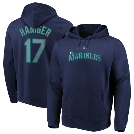 Mitch Haniger Seattle Mariners Majestic Authentic Name & Number Pullover Hoodie - Navy