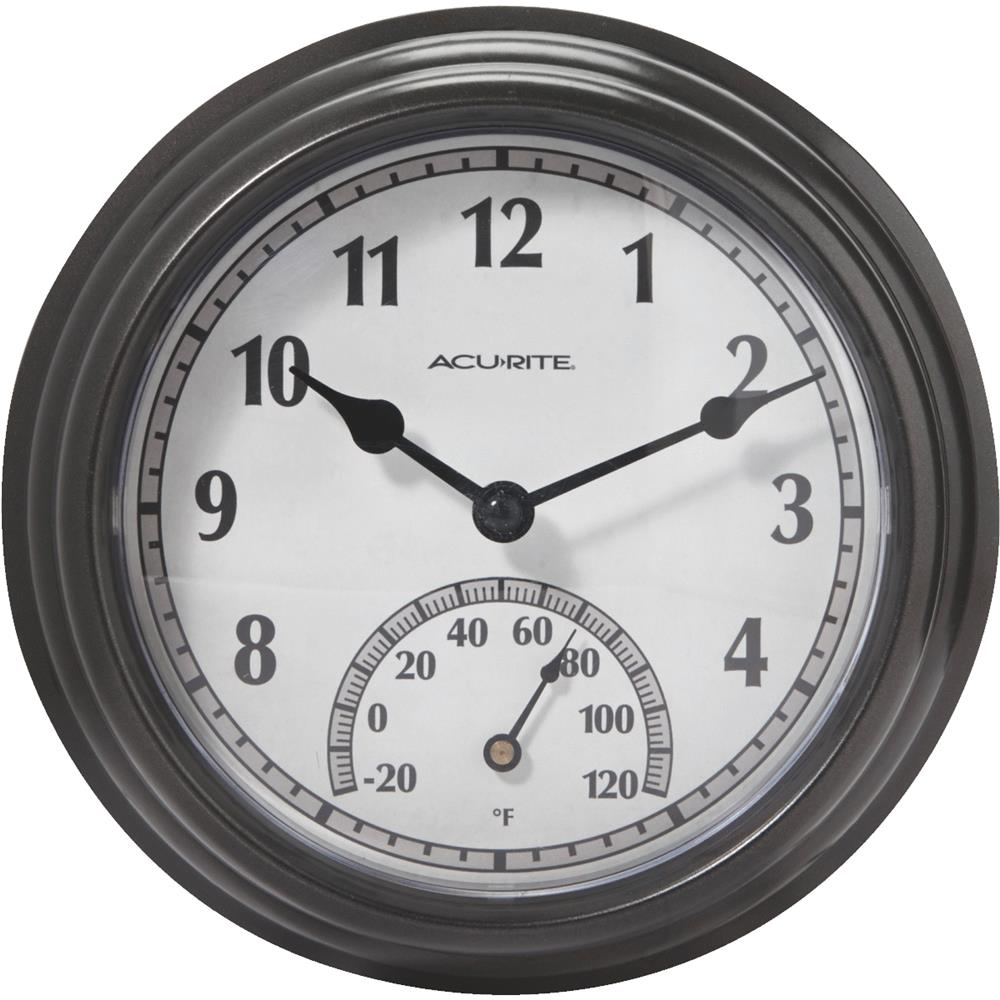 Chaney Instrument In-Out Clock/Thermometer 02413A1