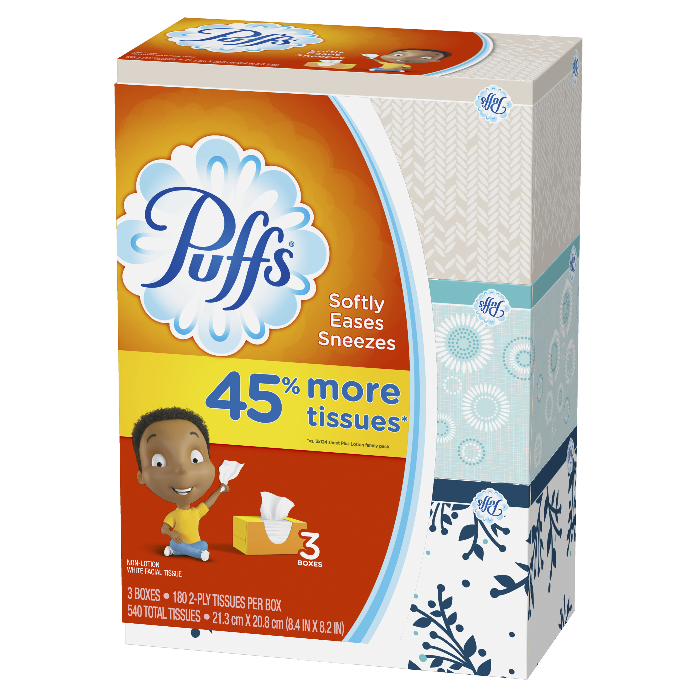 Pop up facial tissue bottom of box color