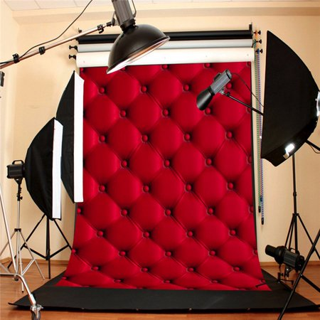 5x7FT Valentine's Day 3D Red Wall Studio Photo Photography Background Screen Backdrop Photoshoot Props - Prom Backgrounds