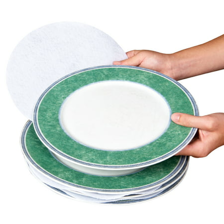 Gold Trimmed Fine China (Evelots Multi Size Felt Plate Separators, Fine China & Dish Protectors-Set of 48)